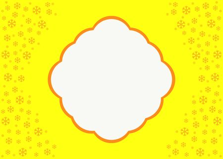 tree trimming: Christmas Background in yellow tones. Vector Illustration.