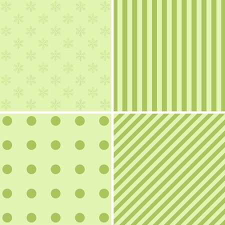 christmas backgrounds: Merry Christmas Holiday Patterns Set. Four Vector   Backgrounds.