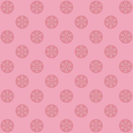 Vector winter retro pattern in pink tones. Vector. Banco de Imagens - 49396832