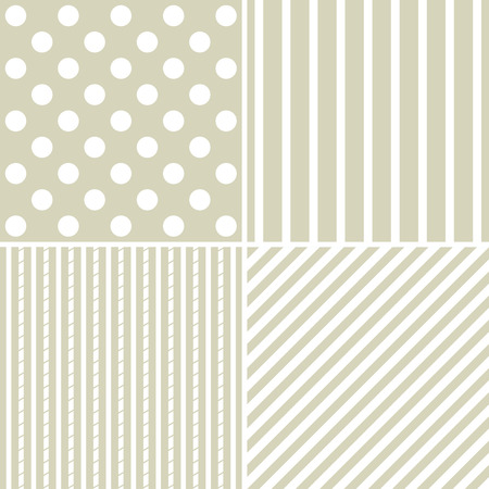 gray strip backdrop: set of four different retro  pattern in pastel tones