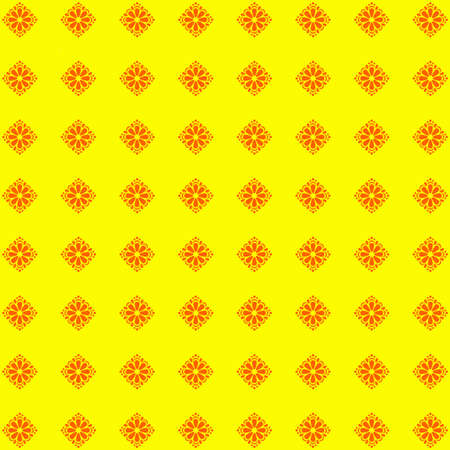 abstract bacground: Cute abstract bacground with flowers. Yellow image. Stock Photo
