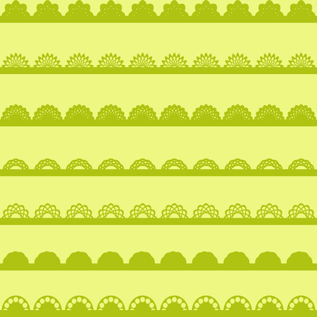punch: Set of green Lace Paper Punch Borders