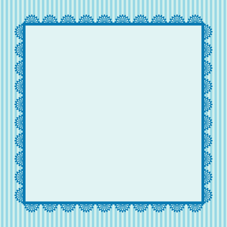 blue frame: Vintage greeting card template. Invitation. Vector illustration Illustration