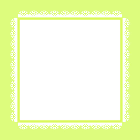 green and white: Vintage frame template in green and white