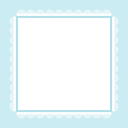 Carino carta inviti, immagini d'epoca in toni di blu