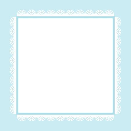 tarjeta de invitaciones lindo, imagen del vintage en tonos azules