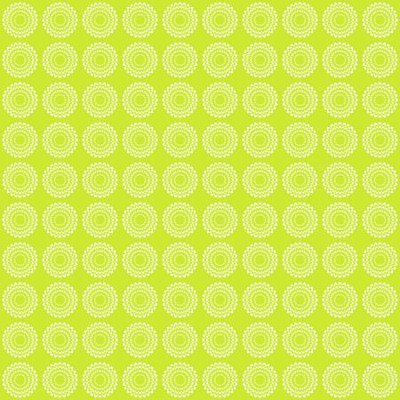 Elegant vintage flower pattern. Retro green background