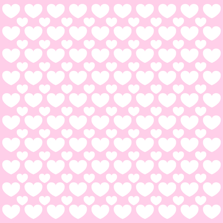 valentine card: Seamless hearts pattern with linen retro texture. Pink love background