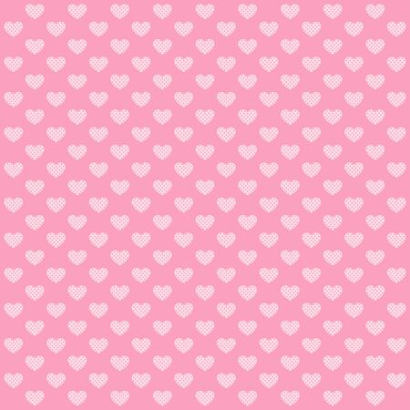 decoratively: Cute Hearts pattern. Pink love background. Vector image.