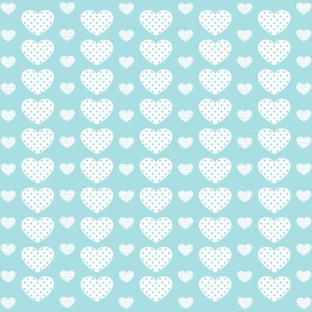 giftwrap: Blue vintage love heart background in pretty colors.