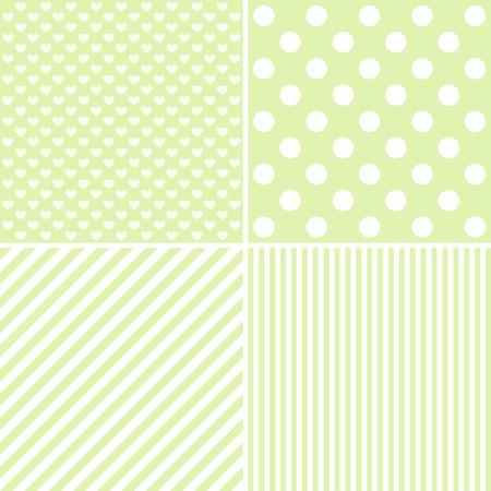 giftwrap: Vector set of 4 background patterns in green