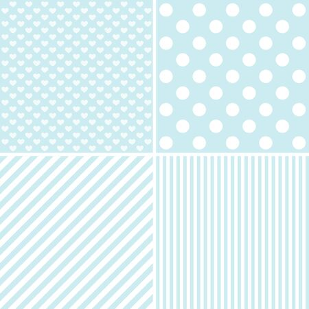 delicate: Set of cute patterns. Collection of  backgrounds in delicate colors. illustration.