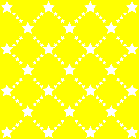 dichromatic: bright abstract pattern with stars on yellow background