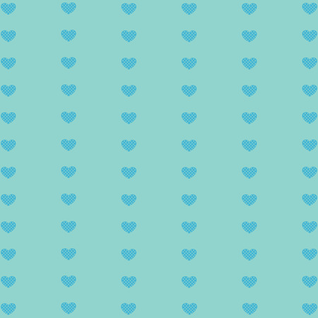 nuance: Hearts geometric pattern. Texture in blue tones