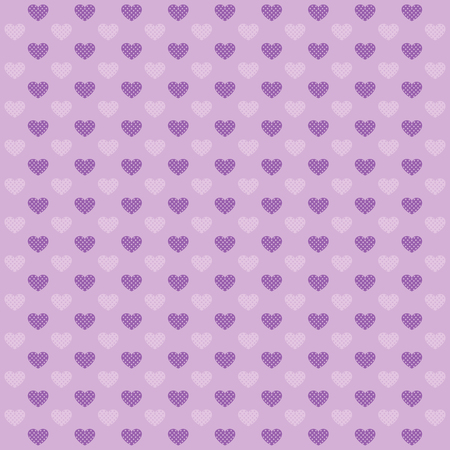 nuance: Hearts geometric pattern. Texture in lilac tones