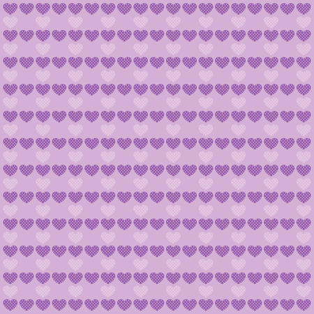 amor: Background with  lilac hearts. Holiday wallpaper. Valentines day. February 14.