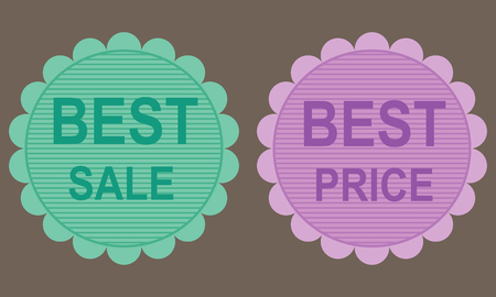 at best: Best Price and best sale labels.