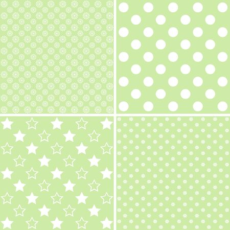 giftwrap: 4 background patterns in pale green.