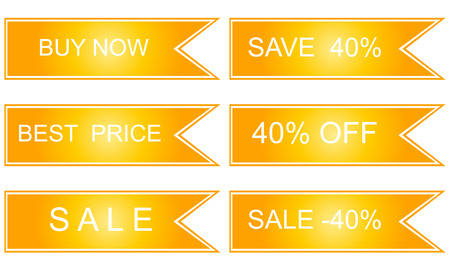 Collection of sale discount labels. Vector. 40. Illustration