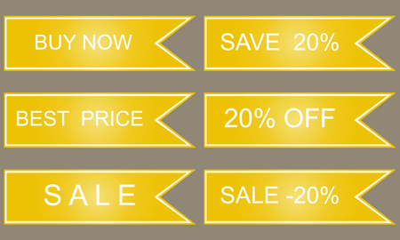 10 best: Yellow labels, best price, click here, save 10