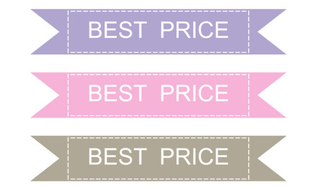 Labels and best price sticers set, vector design elements