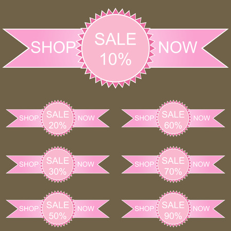 sell out: Discount labels. Vector image with sale tags.
