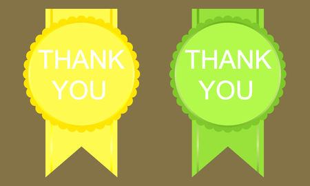 politeness: Thank you sign icon. Vector image on black background Illustration