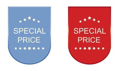 special price: Set of special price stickers, elements and badges Illustration