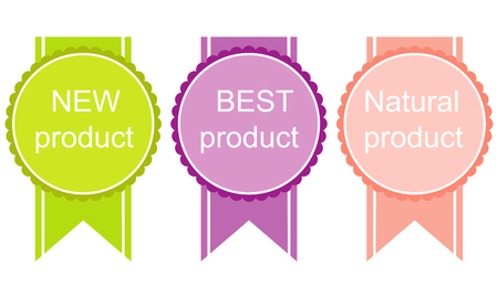 best product: Best Product labels, stickers, buttons. Vector image.