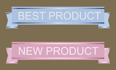 newness: set vector stickers new product and best product