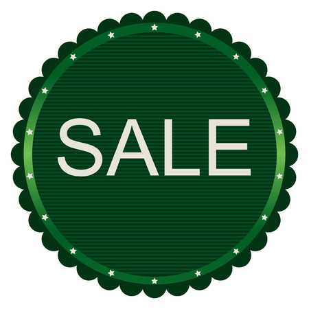 Sale discount label. Image in green tones. Illustration