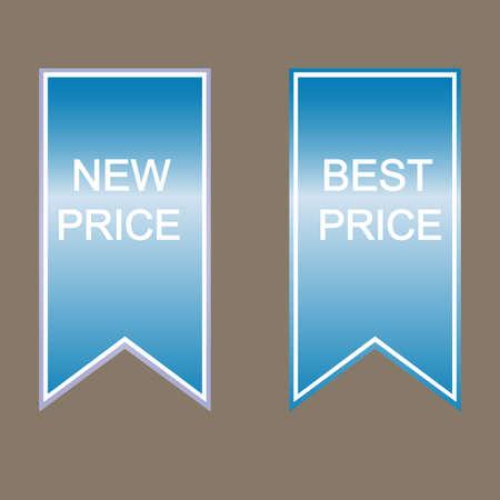 best message: Labels and best price message set, design elements
