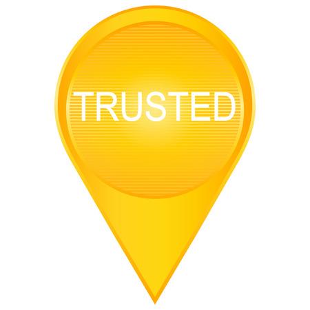 trusted: Trusted Vector Icon Design in orange tones