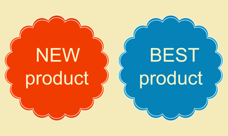 best product: New and best product sticker. Vector image.