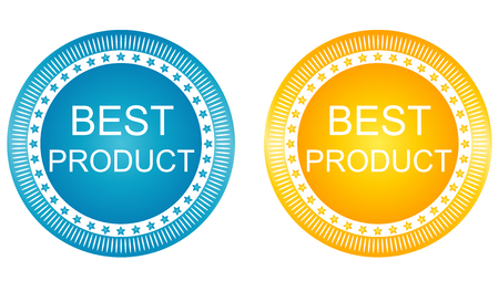 best product: New Best Product Signs Set. Vector image.