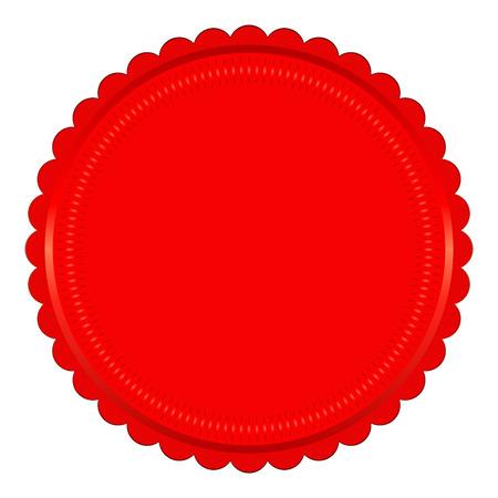 signatory: Vector illustration of red seal on white background Illustration