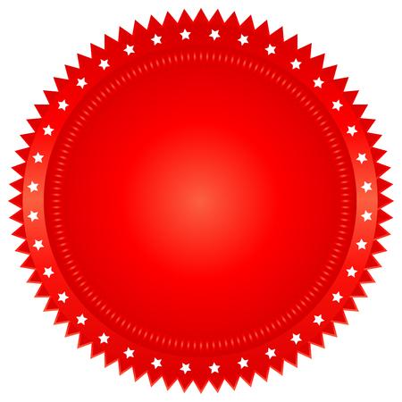 signatory: illustration of red seal on white background Illustration