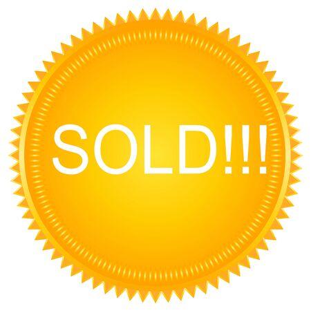 sold: Sold vector label. Sold badge. Sold sticker Illustration