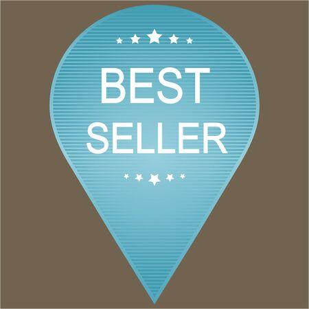 best seller: Best Seller Label in blue tones. Vector image.
