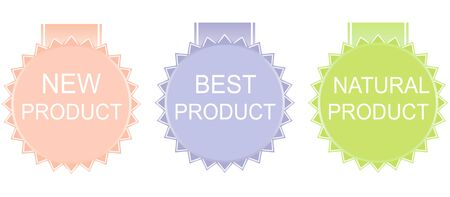 best product: new product, best product, natural product. Vector.