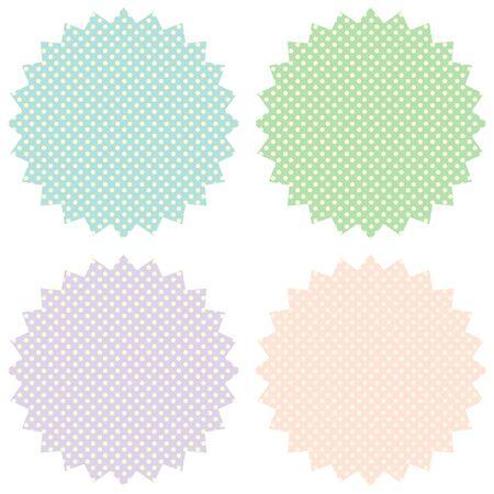 pastel colors: Vintage labels set in pastel tones. Vector image. Illustration