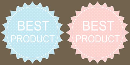 best product: Best product Label on grey background.  Vector.