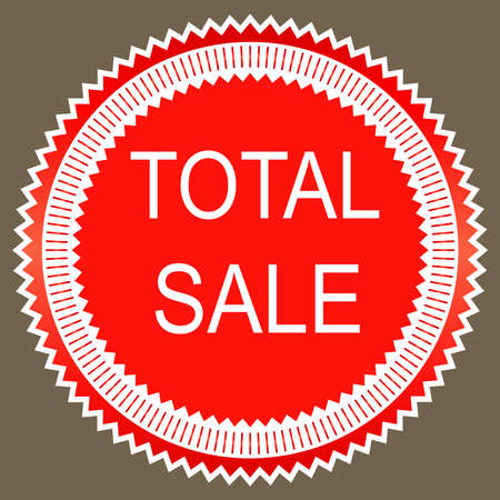 total: Total sale sign icon. Special offer symbol. Vector
