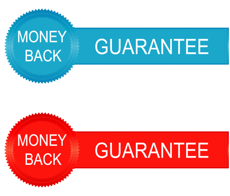 guaranty: Money back guarantee business seal. Vector image. Illustration