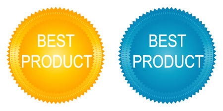 best product: best product badges set on white background