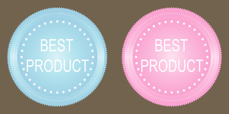 best product: Best product button on grey background. Vector. Illustration