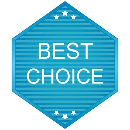 tonnes: Best choice labels in blue tonnes. Vector.