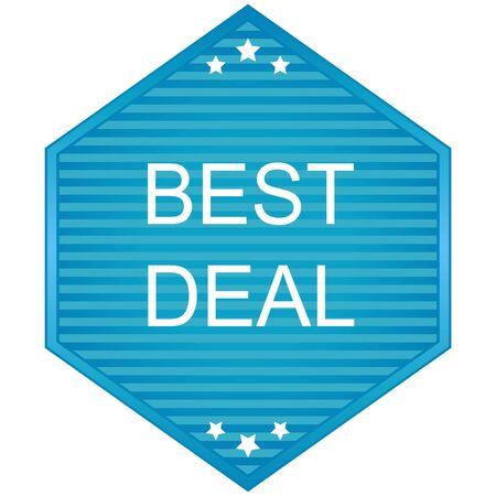 tonnes: Best deal labels in blue tonnes. Vector. Illustration