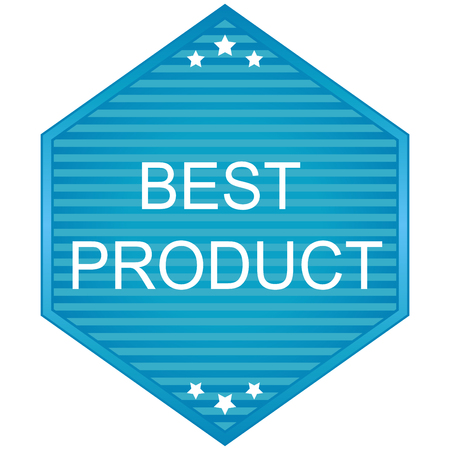 best product: Best product  blue Label. Veector sticker and label. Illustration