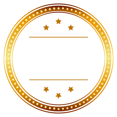 cachet: template seal of quality gold with banner